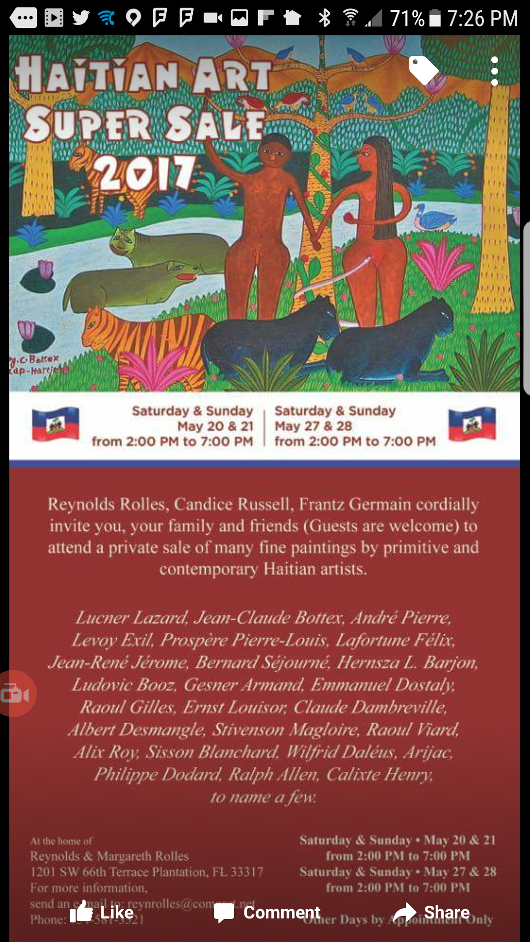 Haitian Art Sale Flyer