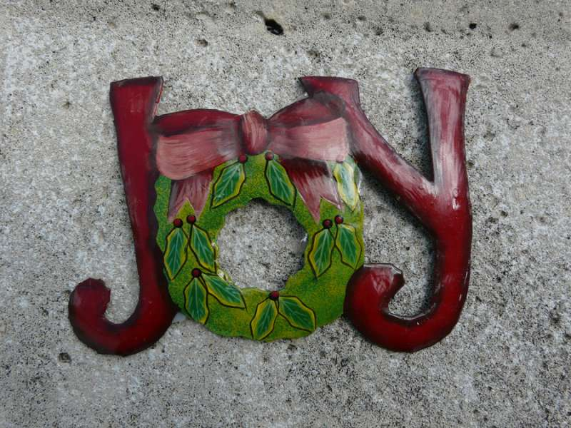 Haitian Painted Metal for Christmas