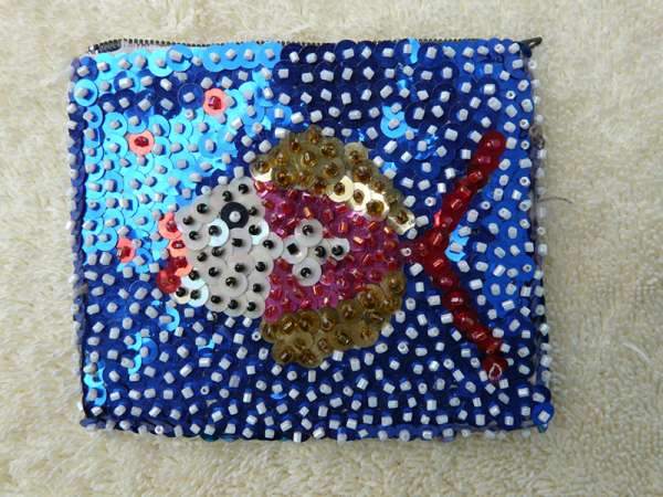 Coin Purse: Fish in Blue Water