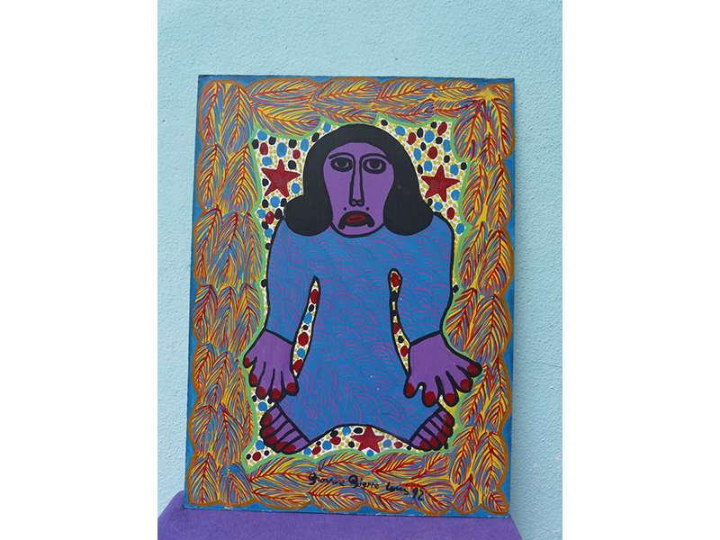 Purple Figure with Red Stars (1992)