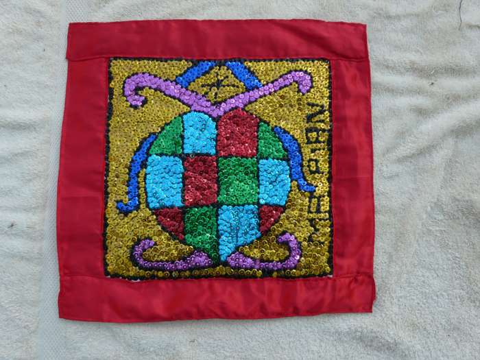 Erzulie with Green, Red, Blue Blocks